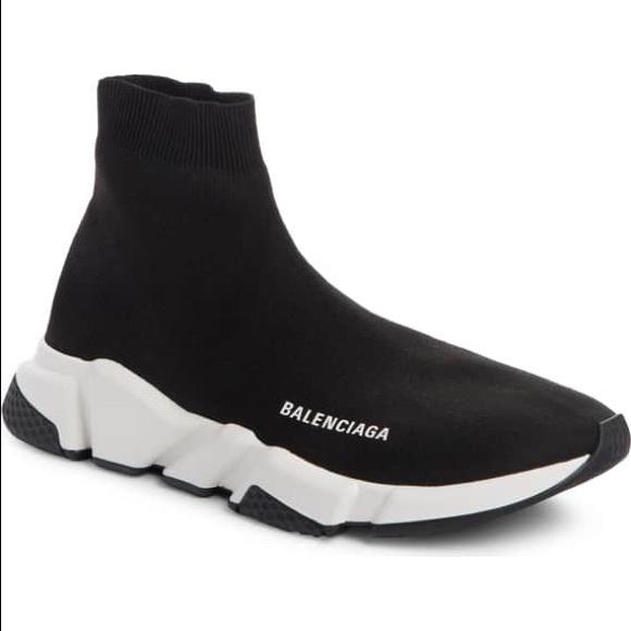 New Blackwhite Balenciaga Mens Speed